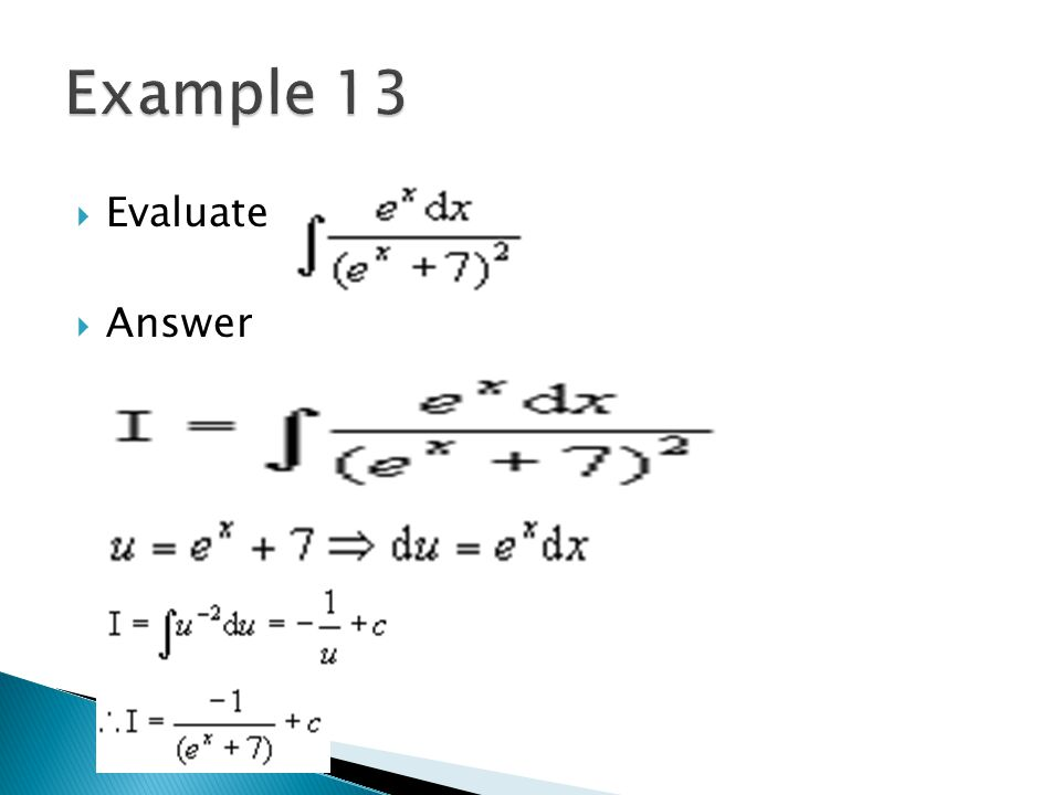 Example 13 Evaluate Answer