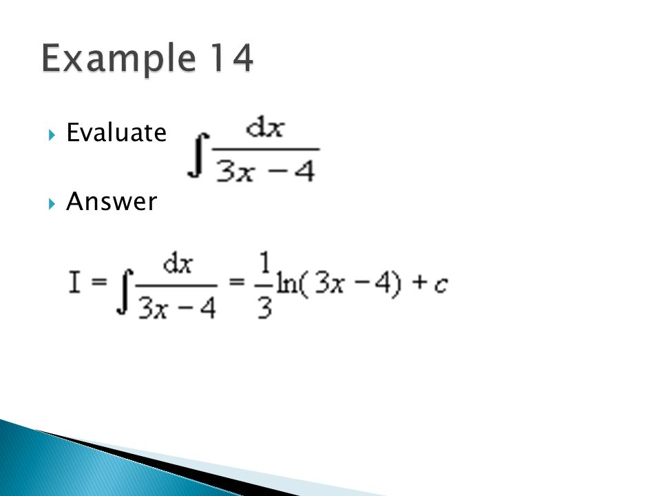 Example 14 Evaluate Answer