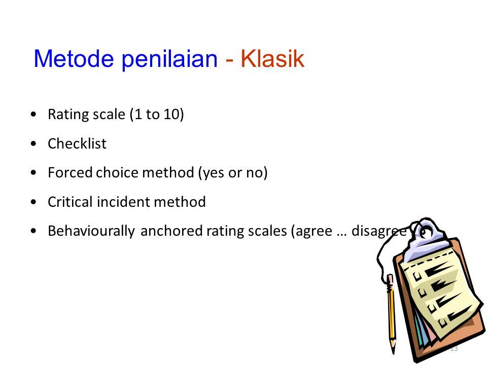 Metode penilaian - Klasik