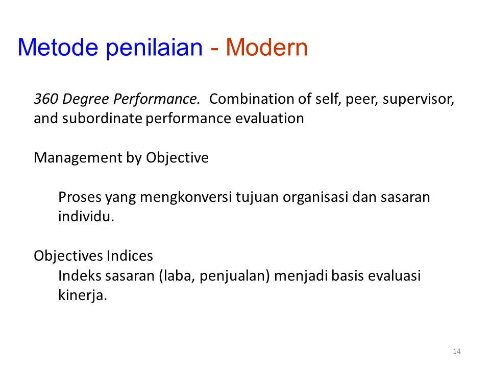 Metode penilaian - Modern