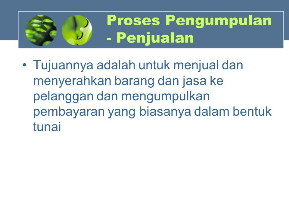 Proses Pengumpulan - Penjualan
