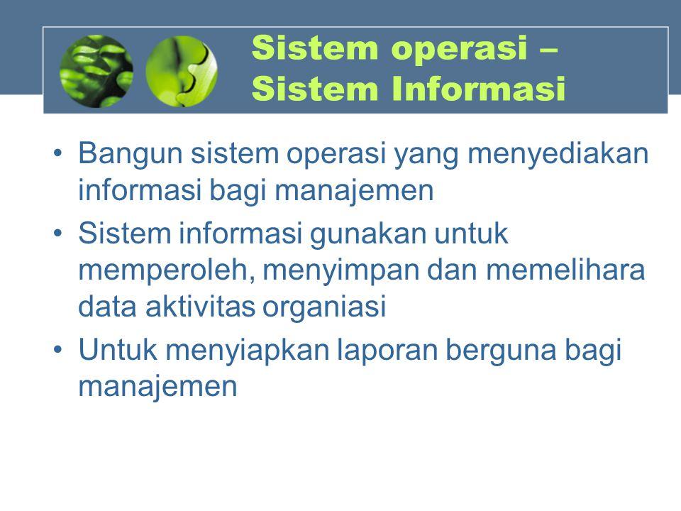 Sistem operasi – Sistem Informasi