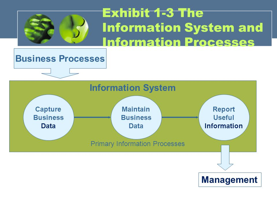 Exhibit 1-3 The Information System and Information Processes