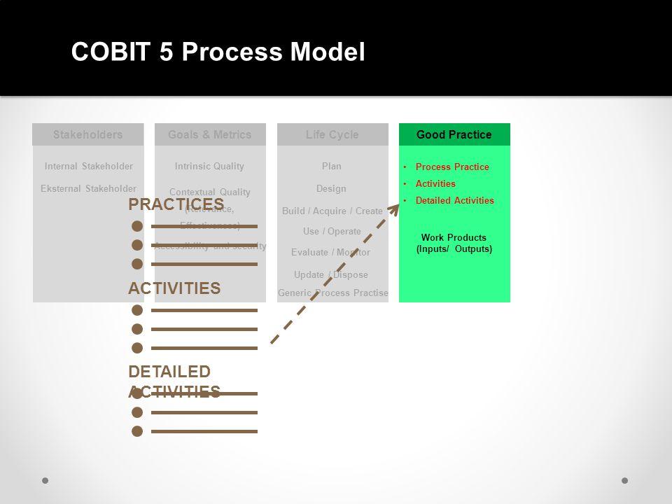 COBIT 5 Process Model PRACTICES ACTIVITIES DETAILED ACTIVITIES