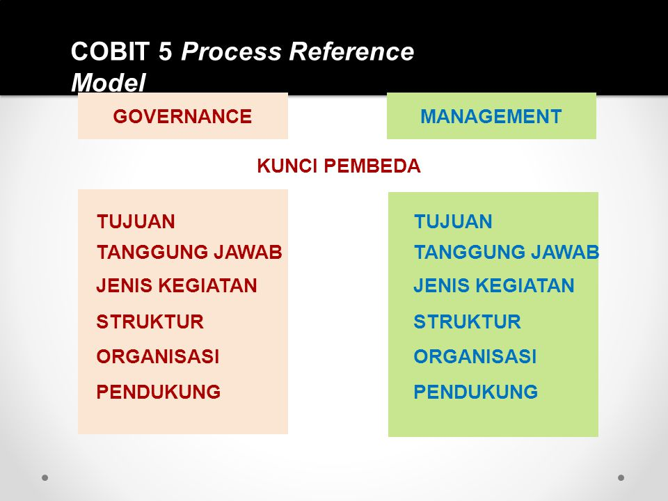 COBIT 5 Process Reference Model
