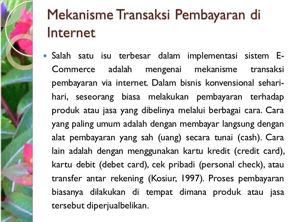 Mekanisme Transaksi Pembayaran di Internet