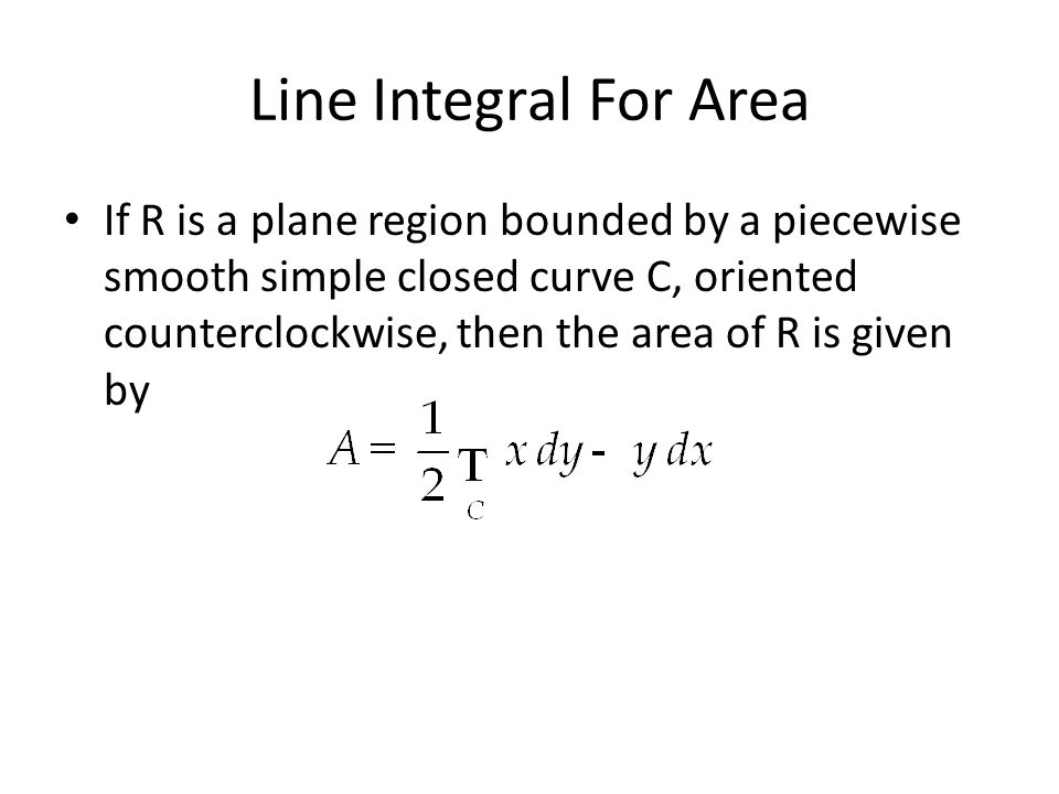 Line Integral For Area