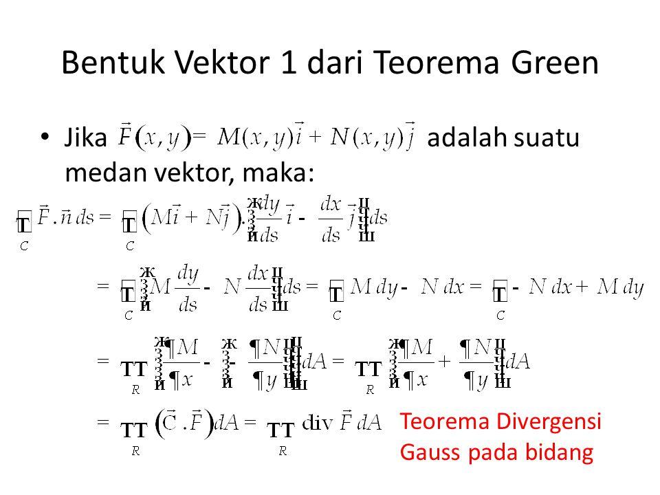 Bentuk Vektor 1 dari Teorema Green