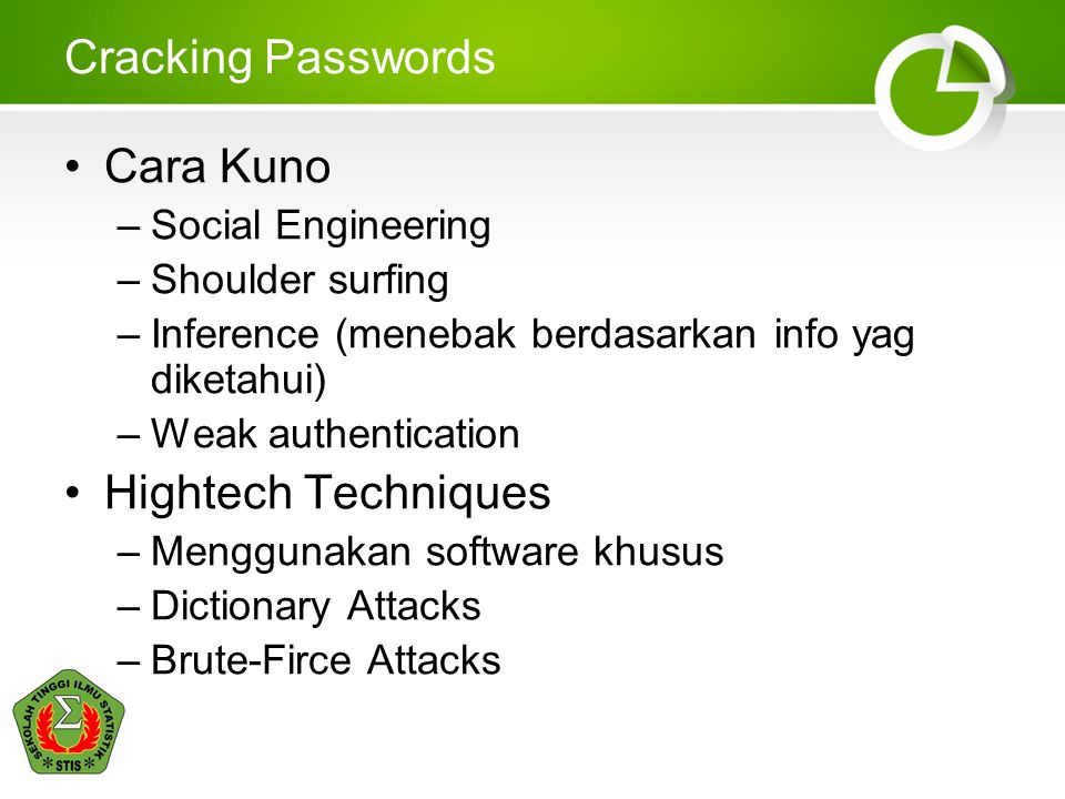 Cracking Passwords Cara Kuno Hightech Techniques Social Engineering