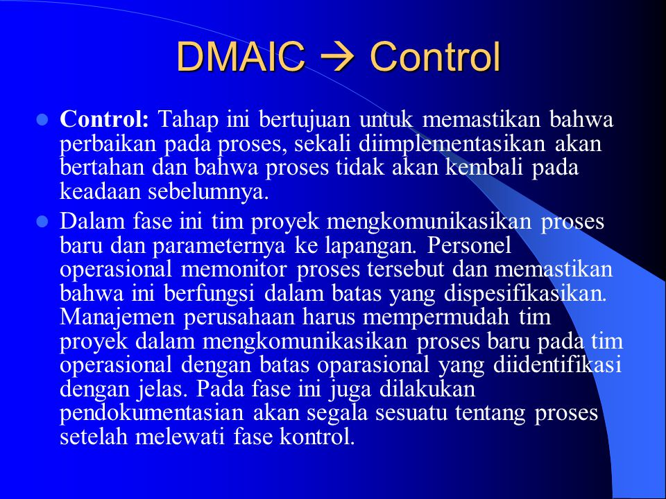 DMAIC  Control