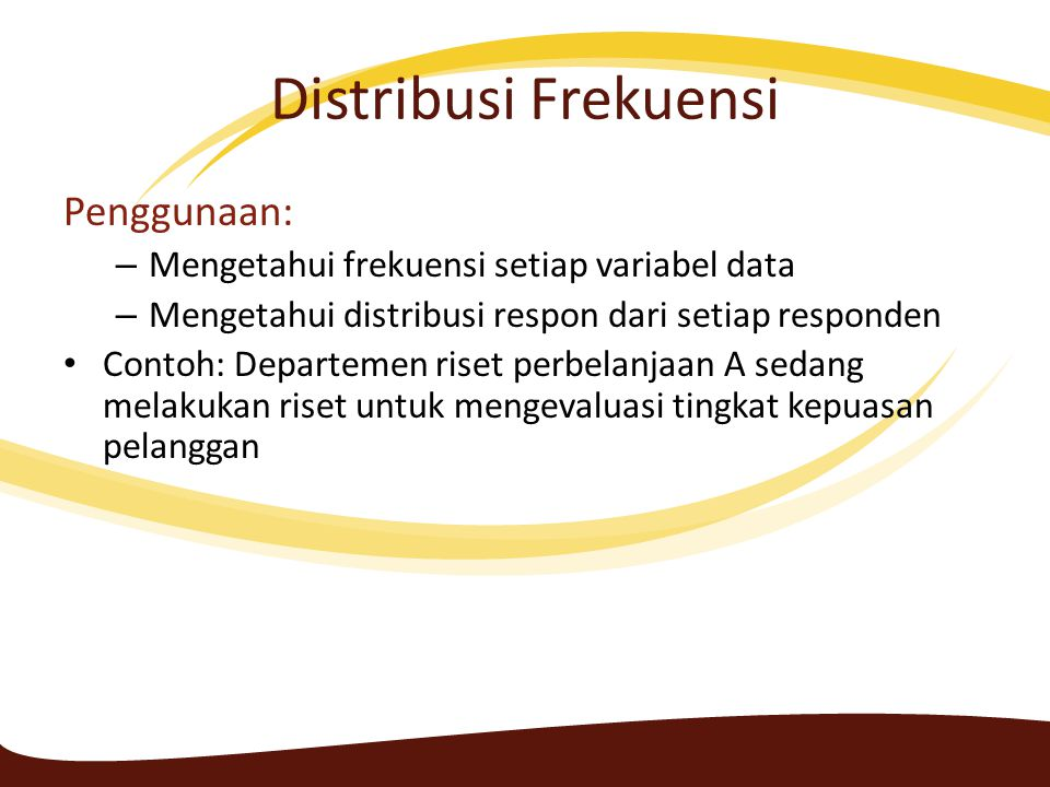Distribusi Frekuensi Penggunaan: