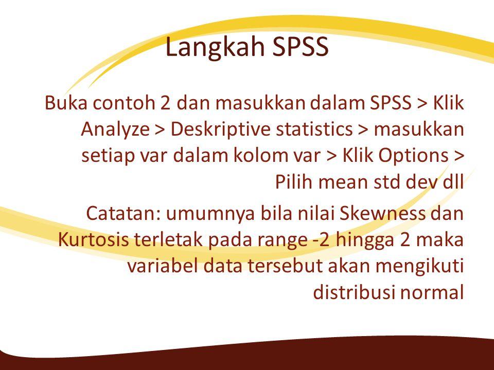 Langkah SPSS