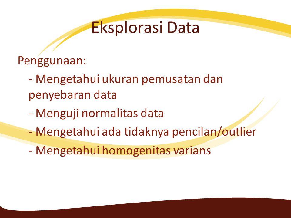 Eksplorasi Data