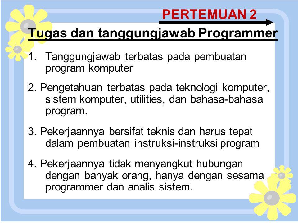 Tugas dan tanggungjawab Programmer