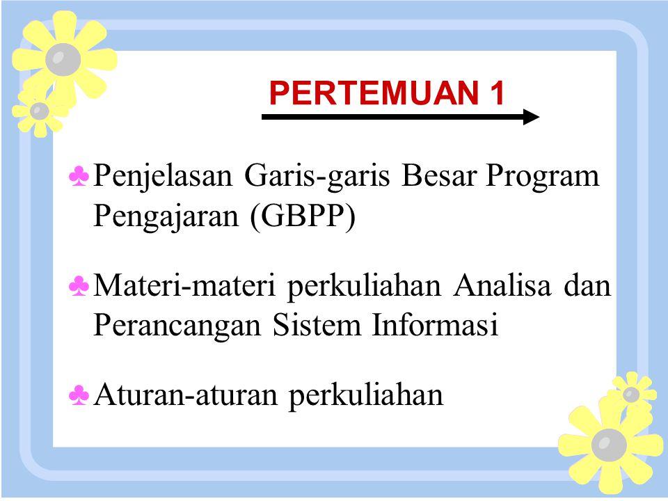 Penjelasan Garis-garis Besar Program Pengajaran (GBPP)