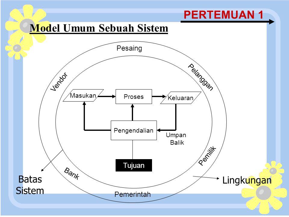 Model Umum Sebuah Sistem