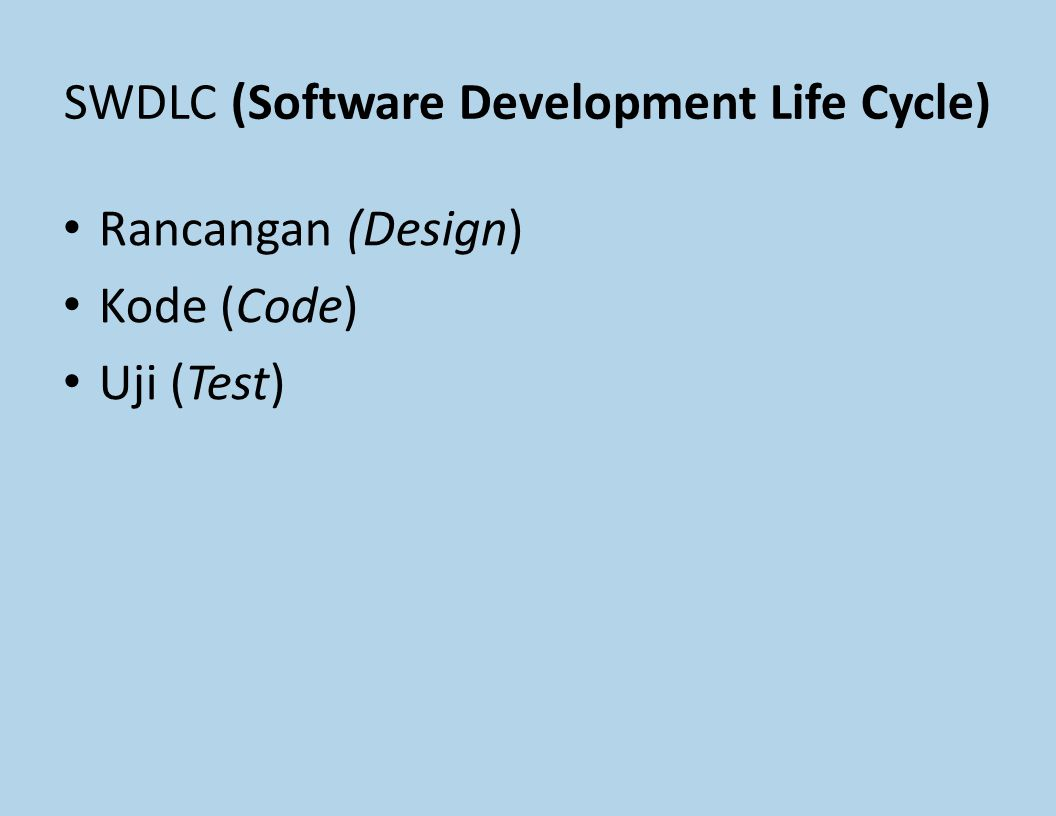 SWDLC (Software Development Life Cycle)