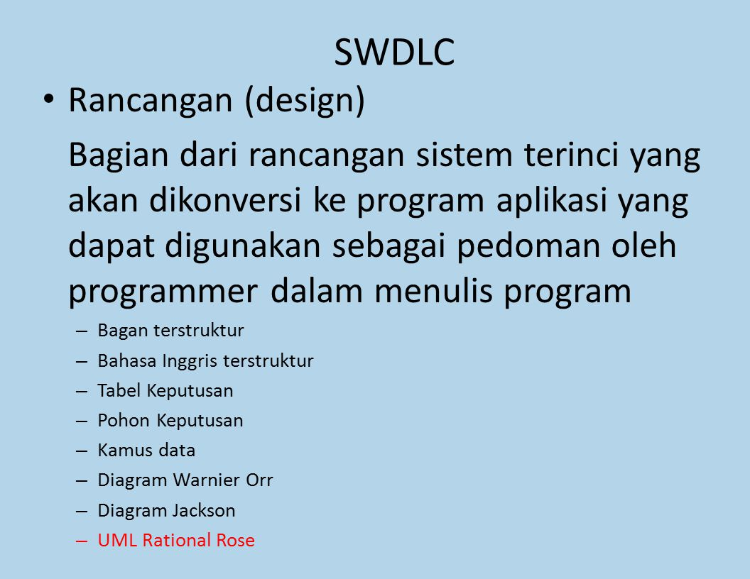 SWDLC Rancangan (design)