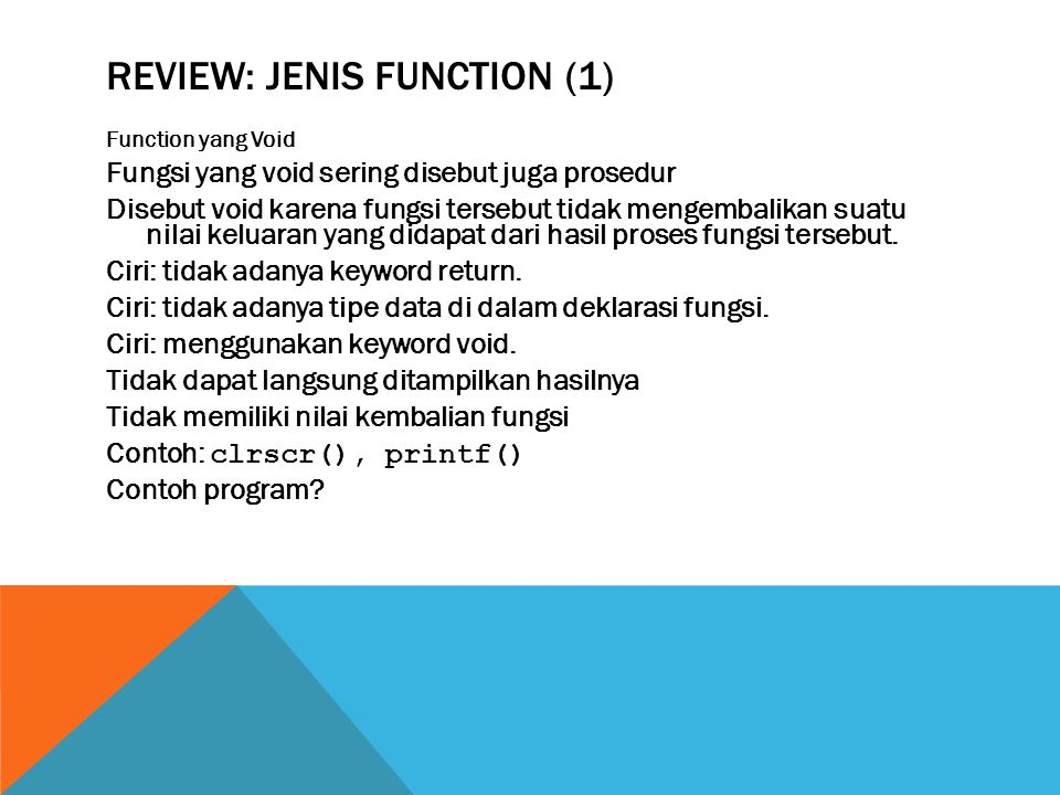 Review: Jenis function (1)