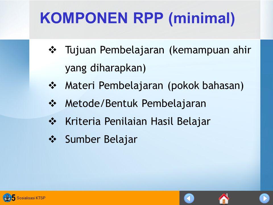 KOMPONEN RPP (minimal)