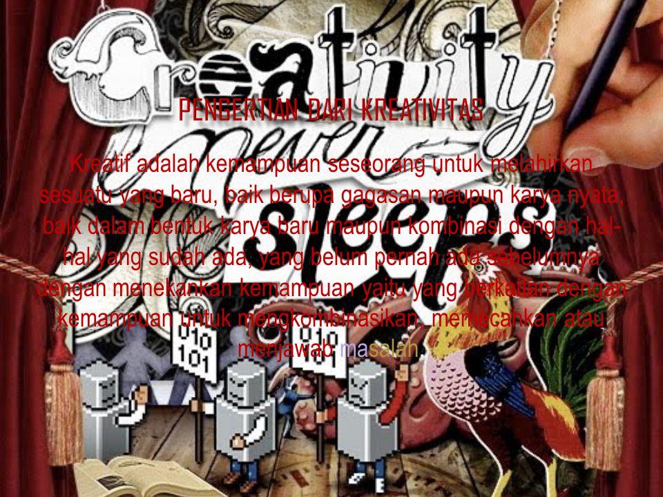 Pengertian dari Kreativitas