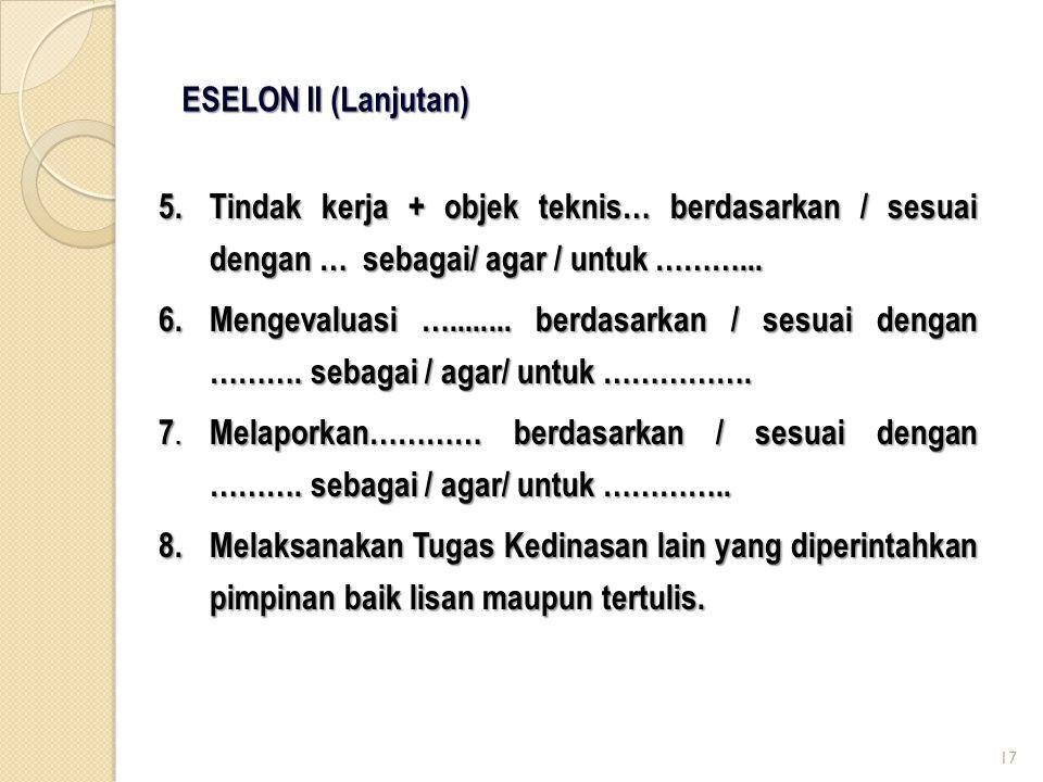 ESELON II (Lanjutan)