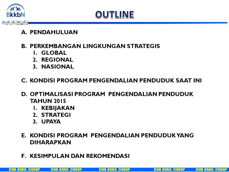 OUTLINE PENDAHULUAN PERKEMBANGAN LINGKUNGAN STRATEGIS GLOBAL REGIONAL