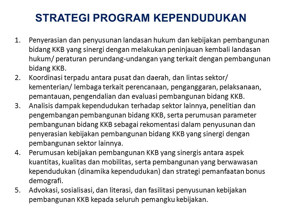 STRATEGI PROGRAM KEPENDUDUKAN