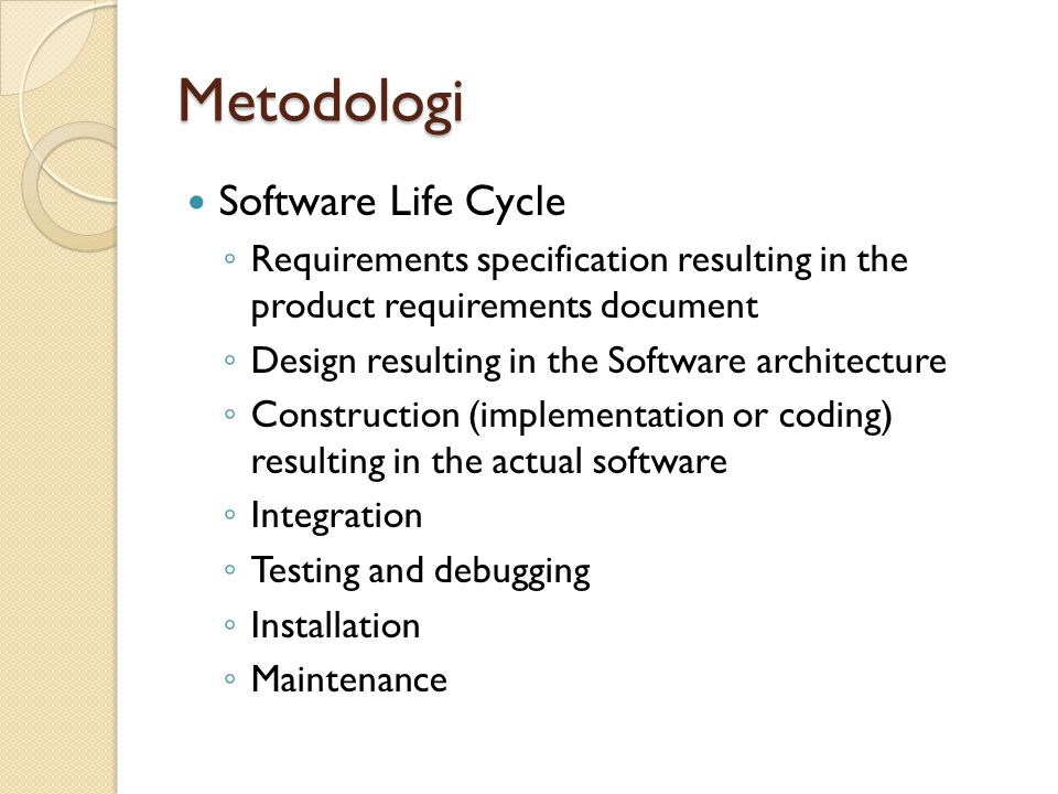Metodologi Software Life Cycle
