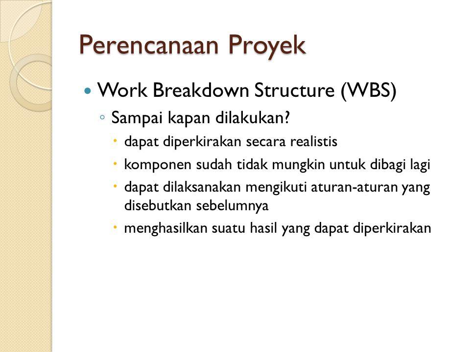Perencanaan Proyek Work Breakdown Structure (WBS)