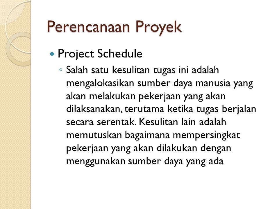 Perencanaan Proyek Project Schedule