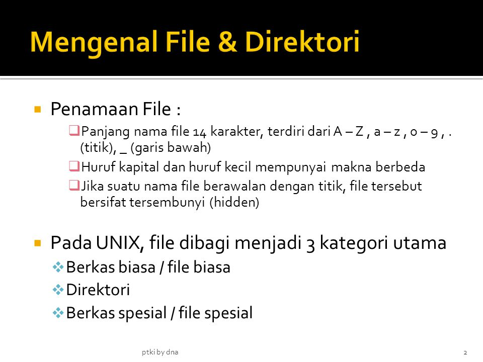 Mengenal File & Direktori
