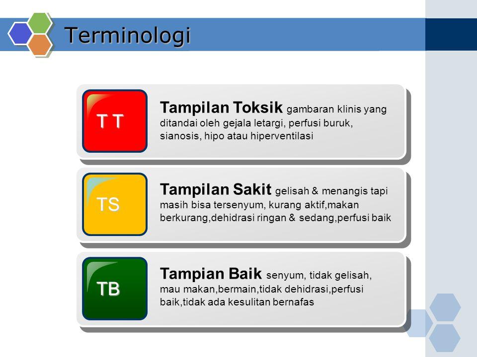 Terminologi Tampilan Toksik gambaran klinis yang ditandai oleh gejala letargi, perfusi buruk, sianosis, hipo atau hiperventilasi.