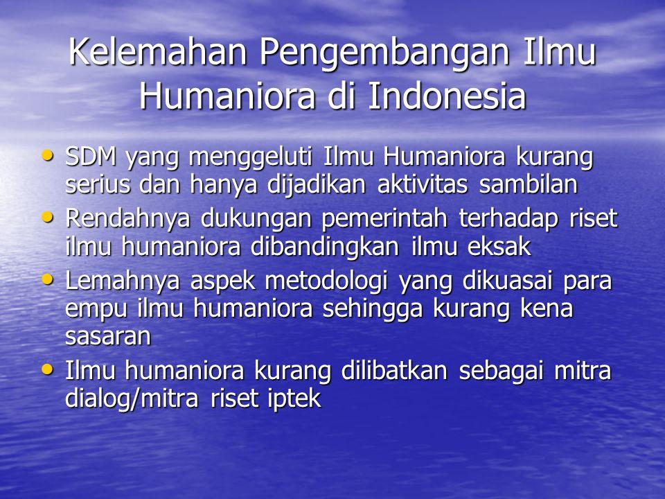 Kelemahan Pengembangan Ilmu Humaniora di Indonesia