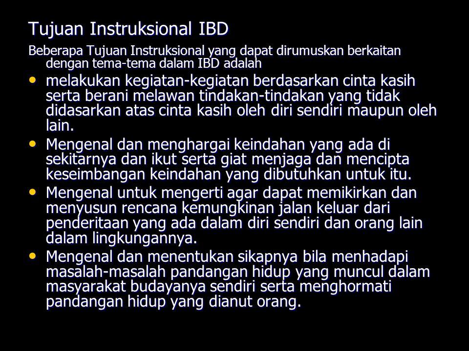 Tujuan Instruksional IBD