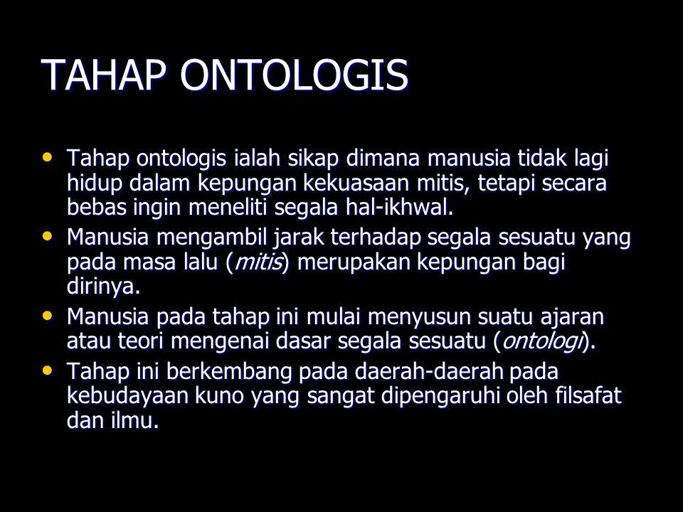 TAHAP ONTOLOGIS