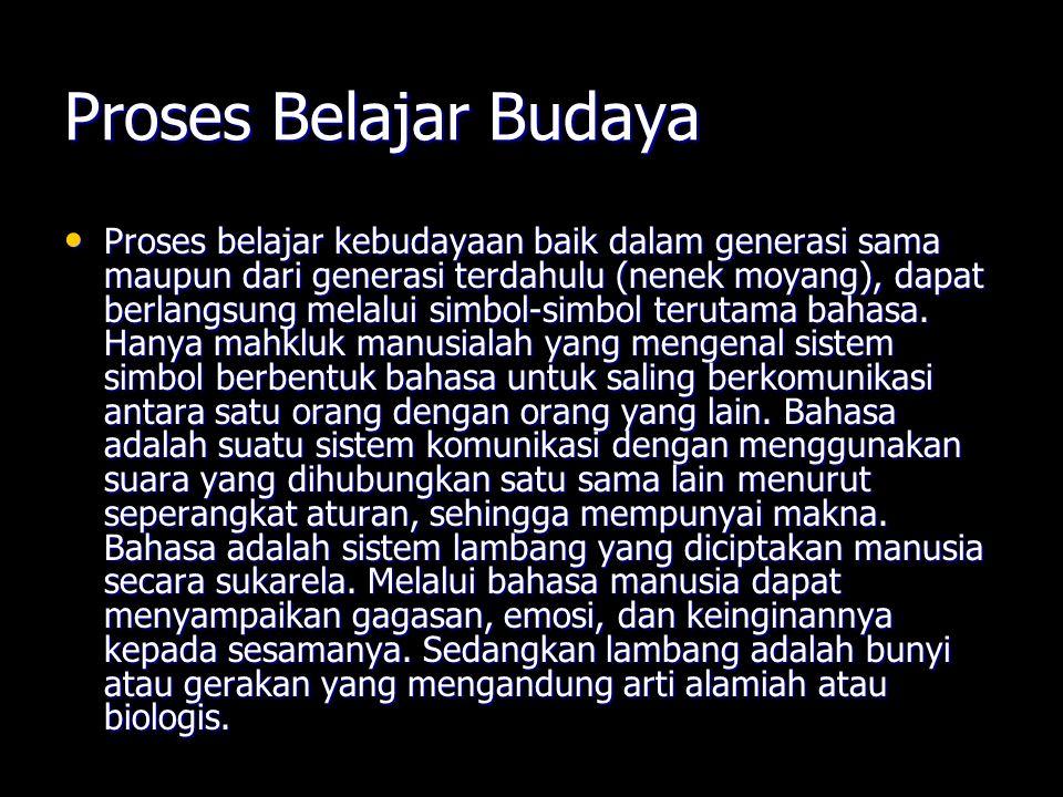 Proses Belajar Budaya