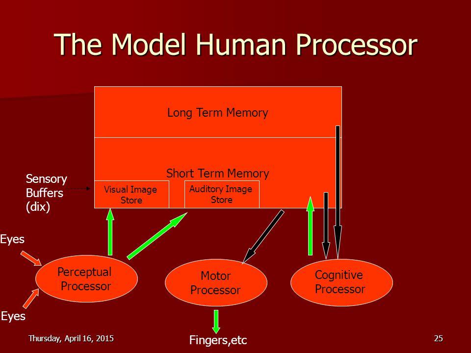 The Model Human Processor