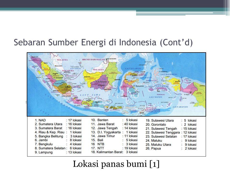 Sebaran Sumber Energi di Indonesia (Cont'd)