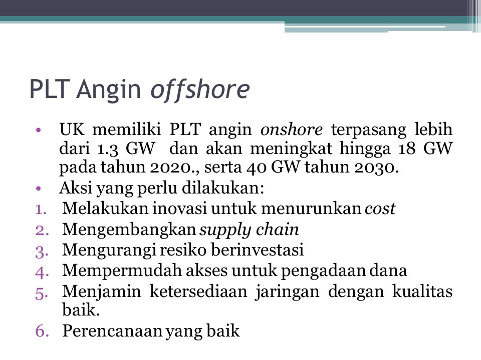 PLT Angin offshore