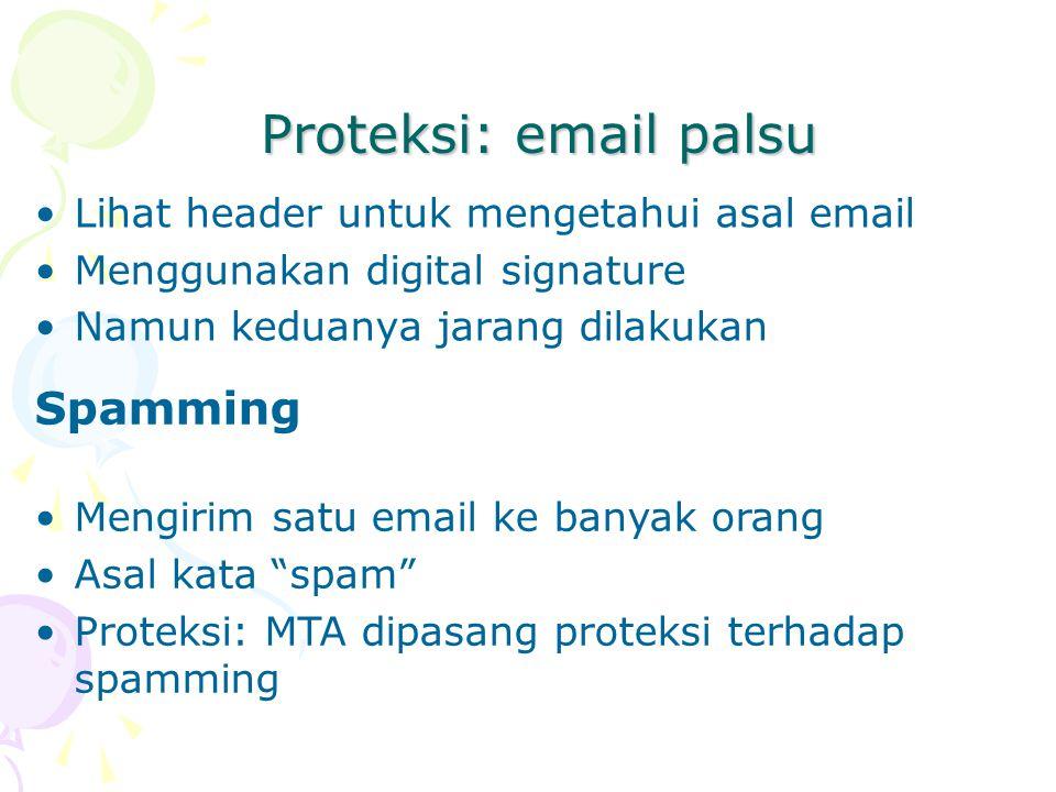 Proteksi: email palsu Spamming