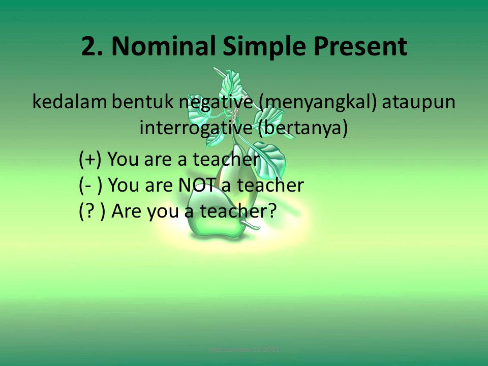 2. Nominal Simple Present