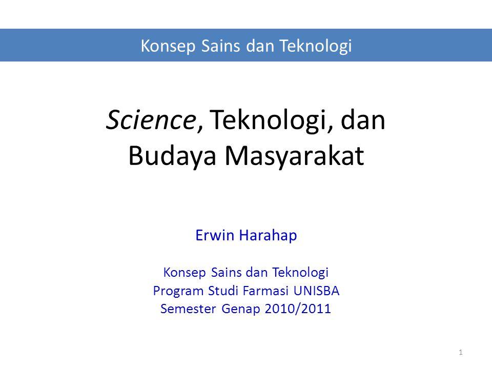 Science, Teknologi, dan Budaya Masyarakat