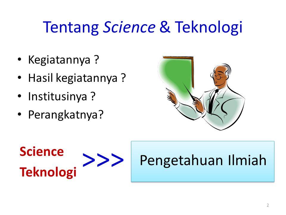 Tentang Science & Teknologi