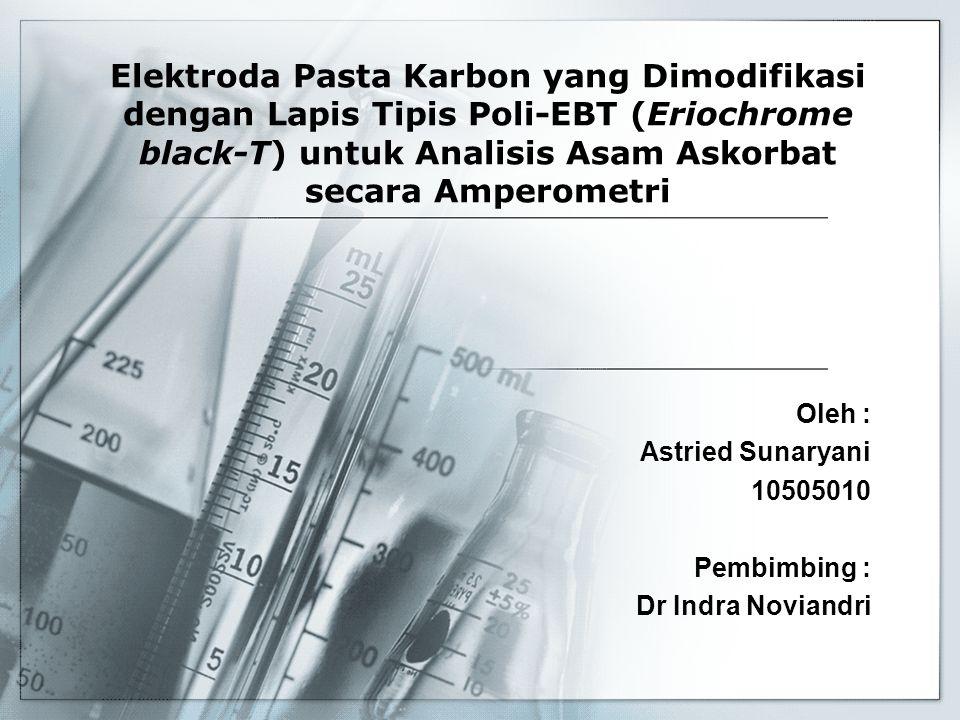 Oleh : Astried Sunaryani 10505010 Pembimbing : Dr Indra Noviandri