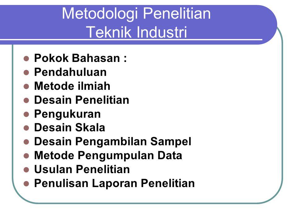 Metodologi Penelitian Teknik Industri