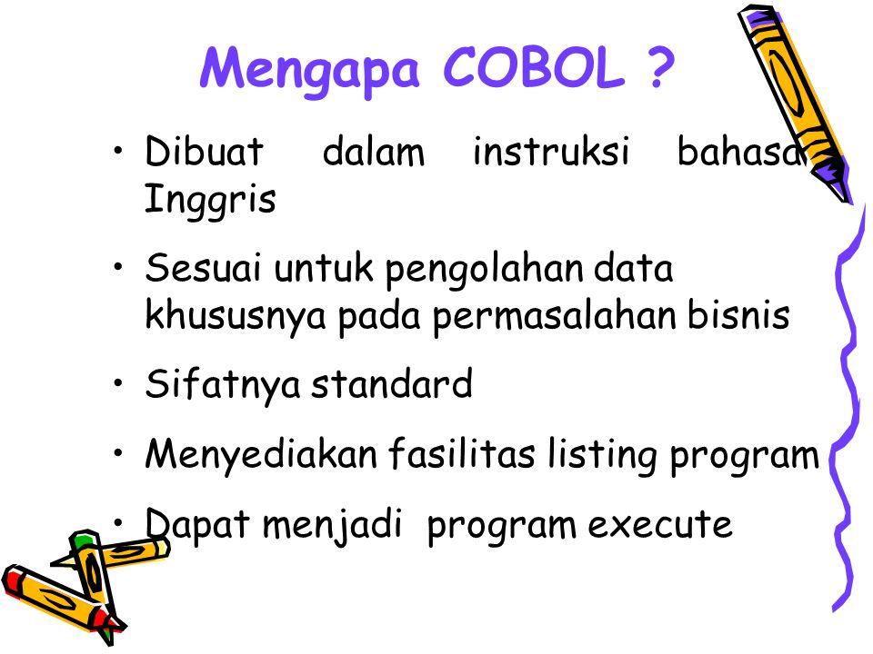Mengapa COBOL Dibuat dalam instruksi bahasa Inggris
