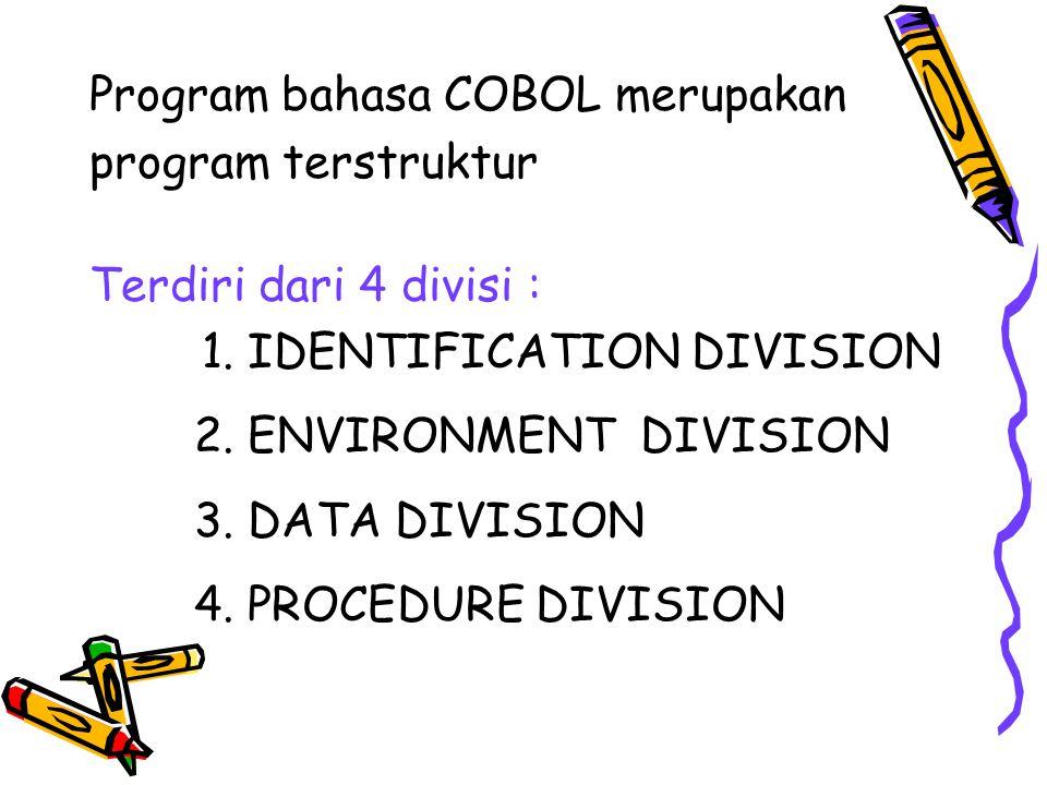Program bahasa COBOL merupakan