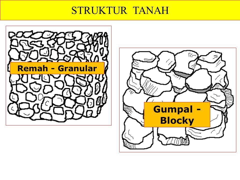 STRUKTUR TANAH Remah - Granular Gumpal - Blocky