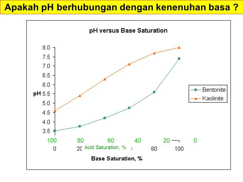 Apakah pH berhubungan dengan kenenuhan basa
